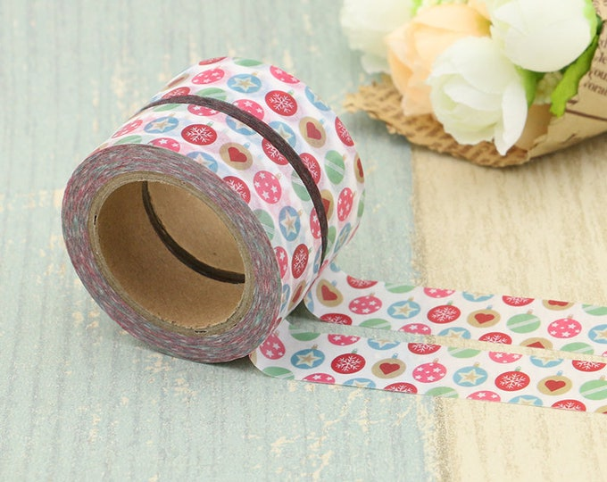Washi Tape - Christmas Washi Tape - Ornaments washi Tape - Paper Tape - Planner Washi Tape - Washi - Decorative Tape - Deco Paper Tape