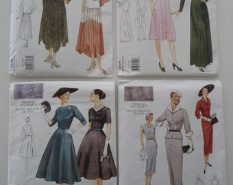 4 Vogue vintage patterns of the 20s, 40s, 50s