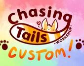 Custom Holiday Bouncy Dutch Angel Dragon Tail