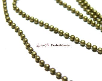 2 meters PCHB001Y 1.5 mm Bronze ball chain