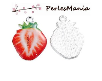 1 pendant enamel Strawberry 28 mm (S1191794)