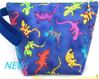 Knitting Bag, Knitting Project Bag, Crochet Bag, knitting Tote, Salamander Bag, Yarn Bag, Sock Bag