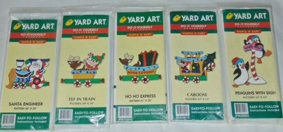 Yard art do it yourself patterns simple and easy santa engineer yard art do it yourself patterns simple and easy santa engineer elf in train ho ho express caboose penguins with sign from craftsnsupplies on etsy solutioingenieria Choice Image