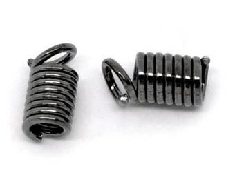 Set of 10 tips screw metal 8 mm x 4 mm gunmetal color
