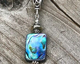 Abalone necklace, abalone penant, seashell jewelry