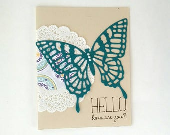 How are you card, thinking of you card, just because card, miss you card, Hello card, Just because card, card for friend, greeting card