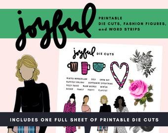 Joyful Printable Die Cuts