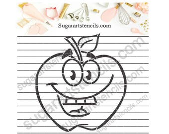 Back to school apple PYO cookie Stencil NB900769