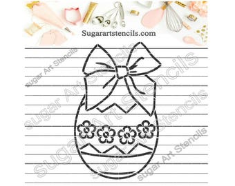 Easter egg PYO cookie Stencil Paint your own  ST00157