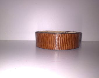 lizard leather strap
