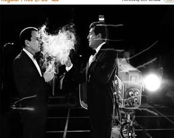 ON SALE Frank Sinatra and Dean Martin at NBC Studios, ca. 1962 - Vintage - Art - Photo - Print - Photograph - Rat Pack - Hollywood - Music -