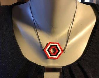 Red miyuki beads fashion necklace