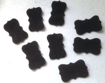 8 cuts fabric Panel in the boiled wool black dies