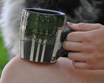 hand painted mug - 12oz