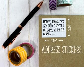 Address Labels, Address Stickers, Pen Pal Stickers, Wedding Stickers, Return Address, Return Labels, Business Labels, Custom (11-0002-001)