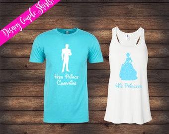 His Princess Her Prince Charming | Cinderella Shirts | Disney Couple Shirts | Disney Shirts | Matching Disney Shirts | His & Her Shirts