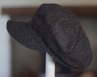 Brown Barleycorn Harris Tweed Baker Boy Cap