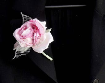 boutonniere bridal flower boutonniereboutonniere fabric rose brooch boutonniere rose pink