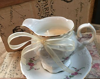 Teacup Creamer Candle
