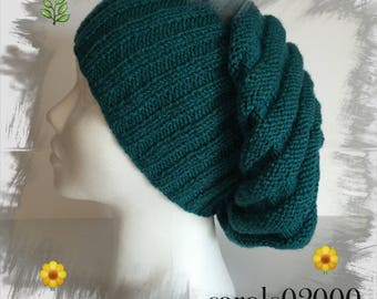 Spring, soft light and comfortable, turquoise blue color wool Slouchy adult/women/teens Hat