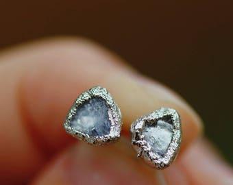 Silver Tanzanite Earrings // December Birthstone