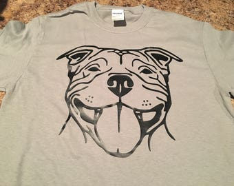 Pitbull tshirt. Pretty pitbull face tshirt. Great for birthdays or just to show off your love for pits!
