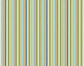 Green Stripe Fabric - Road Tripe Fabric by Kelly Panacci and Riley Blake Designs C5625 Green - Green Cotton Fabric Cotton by the Yard