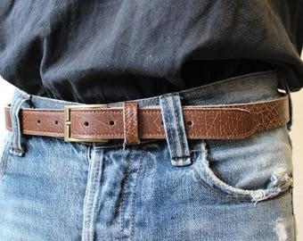 leather belt; Brown belt; men's belt. Brown leather belt