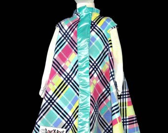 Lovey Coat in Turquoise Rainbow