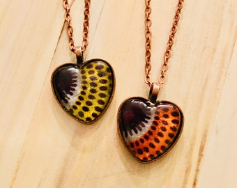 Nek-lace - Necklace - African inspired - heart pendant - liefde bars (love burst)