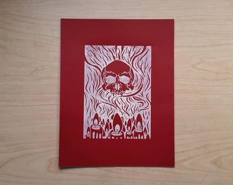 Occult Print (Red)