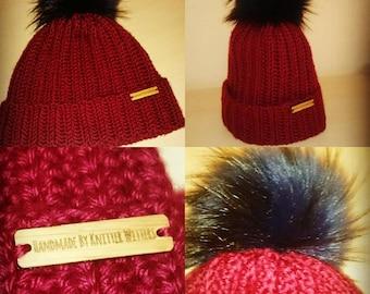 Crochet Faux Fur Hat