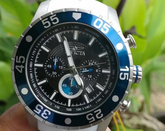 Invicta Men's 50mm White Pro Diver Quartz Chronograph Silicone Strap Watch #63