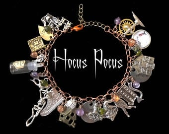 Hocus Pocus Sanderson Sisters Womens Charm Bracelet