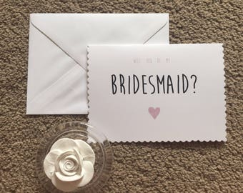 Will You Be My Bridesmaid Scalloped Card - Bridesmaid Proposal - wedding cards