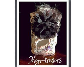 boxes customize lace and big black flower