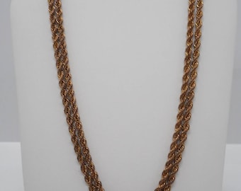 Antique Victorian Double Rope with Slide Pocket Watch Chain Fob