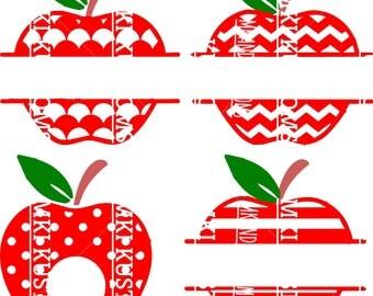 apple monogram svg/ teacher svg/ back to school svg/ apple svg/ classroom svg/ school svg/ teacher appreciation svg/ cricut svg files