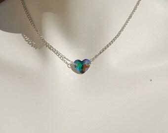 stunning swarovski Crystal Heart Necklace paradise shine