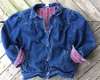 Small lined bomber jacket