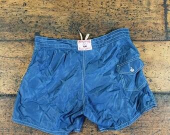 Vintage Birdwell Beach Britches Board Shorts Swim Trunks | Made in USA Sz 36
