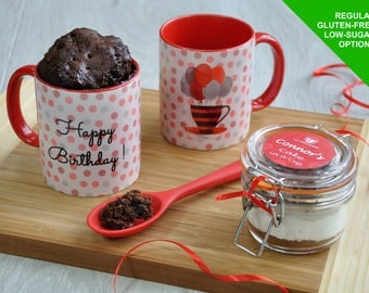 Baking Kit, Happy birthday, mug cake kit, birthday for him, birthday gift her, sweet tooth, microwave cake, chocoholic gift, chocolate cake