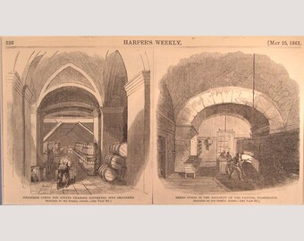 Washington – D.C. – Senate and Capitol Buildings  – 1861