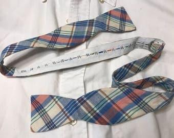 Vintage Madras Bow Tie