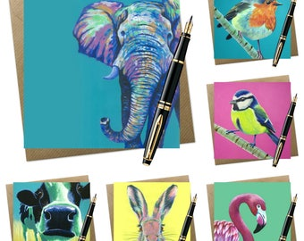 6 pack of assorted greeting cards | wildlife
