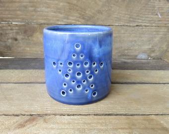 Star Candle Holder, Ceramic Candle Holder, Handmade Candle Holder, Tea Light Hollder, Star, Candle Holder, Blue,