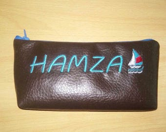 Personalised pencils case/ embroidered pencils case
