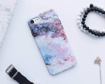 Blue And Pink Marble iPhone Case iPhone 8 Case iPhone 8 Plus Case iPhone 7 Case iPhone 7 Plus Case iPhone 6s Case iPhone 6s Plus Case Marble