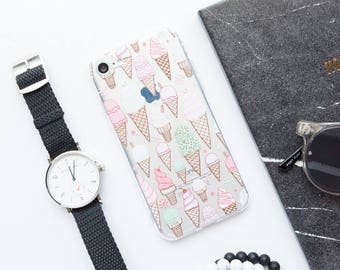Ice Cream iPhone X Case iPhone 8 Case iPhone 8 Plus Case iPhone 7 Case iPhone 7 Plus Case iPhone 6s Case iPhone 6s Plus Case Cute Sweet