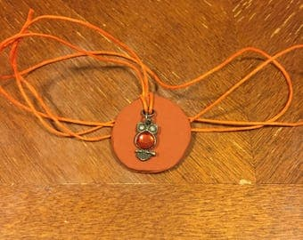 Gemstone Owl Oil Diffuser Necklace